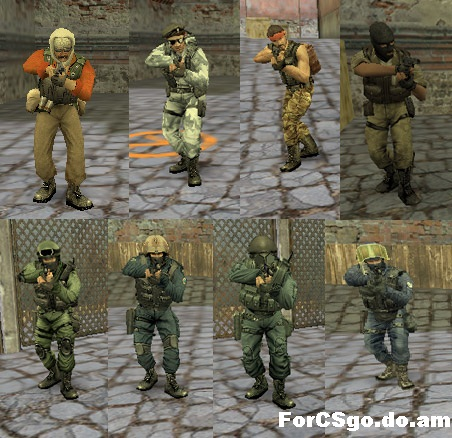 Модели игроков steam